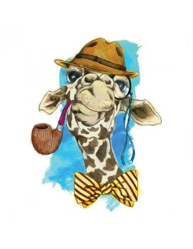 Velká hipster žirafa - vodovkové...