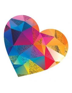 Metalické barevné srdce -...