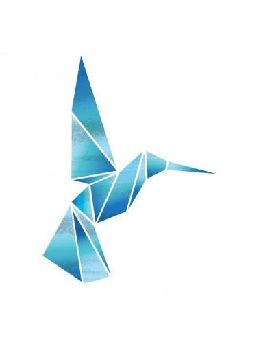 Metalický geometrický kolibřík -...