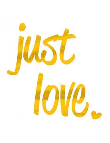 Metalický nápis Just Love -...