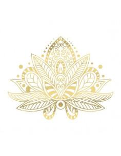 Metalický zlatý lotos -...