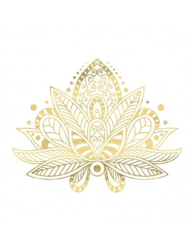 Metalický zlatý lotos - nalepovací...