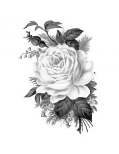Šedá růže - nalepovací...