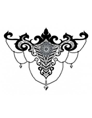 Chandelier - nalepovací bikini tetování