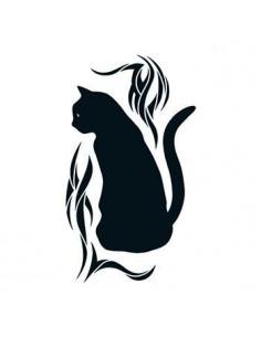 Černá kočka - tribal...