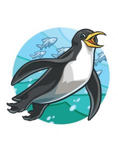 Tučňák - nalepovací tetování