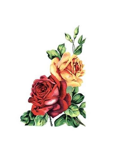 Červená a žlutá růže - nalepovací...