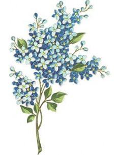 Modrá kytička - nalepovací...