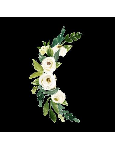 Půlměsíc z květin - vodovkové...