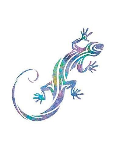Třpytivá ještěrka - nalepovací tetování