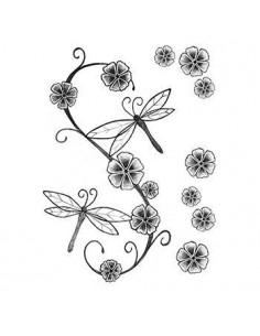 Vážky a květiny -...