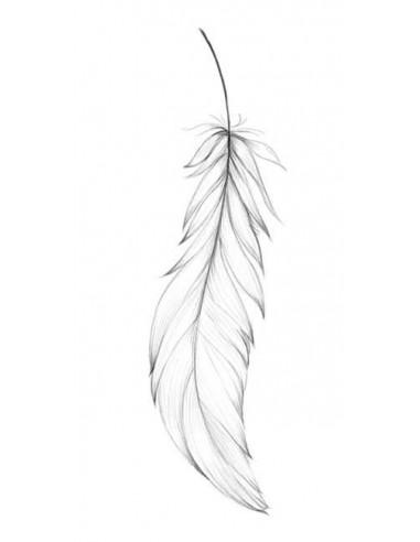 Kreslené peříčko - nalepovací tetování
