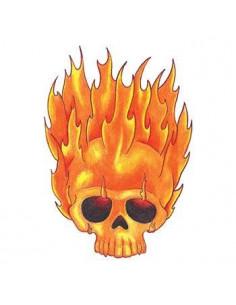Hořící lebka - nalepovací...