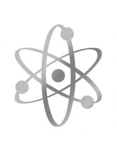 Metalický stříbrný atom -...