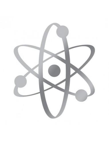 Metalický stříbrný atom - nalepovací...