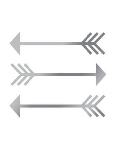 Metalické stříbrné šipky -...