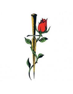 Růže s dýkou - nalepovací...