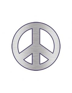 Metalický stříbrný symbol...