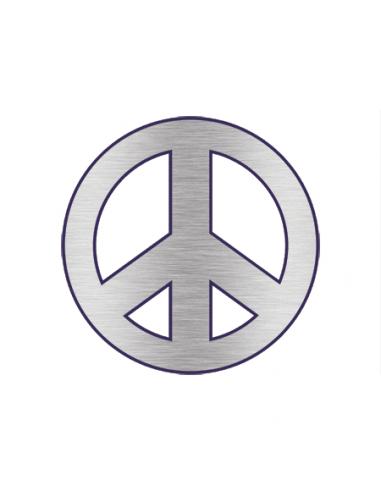 Metalický stříbrný symbol Peace -...
