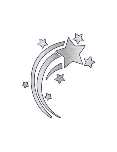 Metalické stříbrné padající hvězdy -...