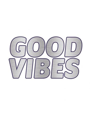 Metalický stříbrný nápis Good Vibes -...
