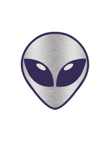 Metalický stříbrný mimozemšťan -...