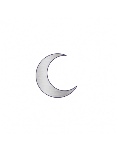 Malý metalický stříbrný půlměsíc -...