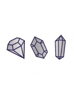 Metalické stříbrné diamanty...