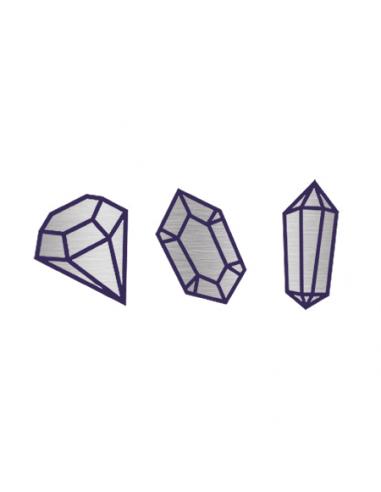 Metalické stříbrné diamanty -...