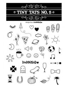 Černobílé tetovačky - sada 5