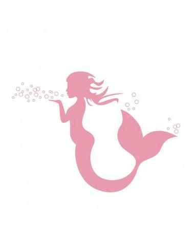 Růžová mořská panna - nalepovací...