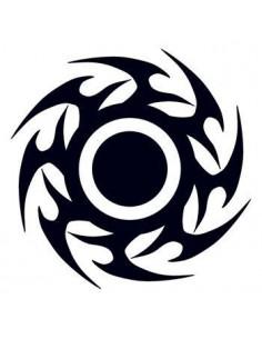 Černý disk - tribal...