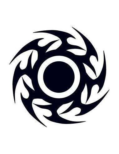 Černý disk - tribal nalepovací tetování