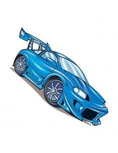 Modré závodní auto -...