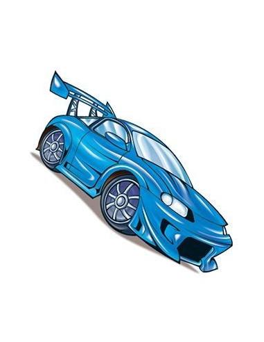 Modré závodní auto - nalepovací tetování