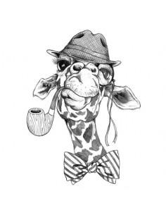 Velká černobílá hipster...
