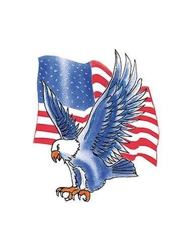 Modrý orel s americkou vlajkou -...