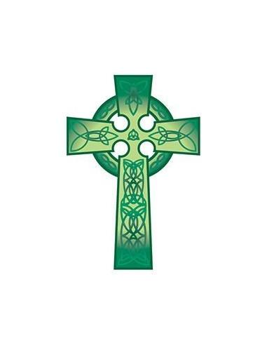 Zelený keltský kříž - nalepovací...