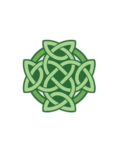 Zelený keltský uzel - nalepovací...