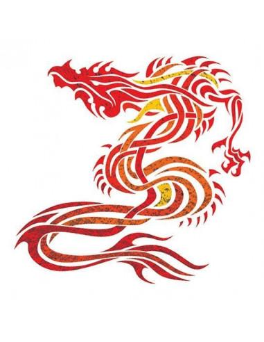 Metalický drak - nalepovací tetování
