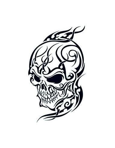 Lebka 2 - tribal nalepovací tetování