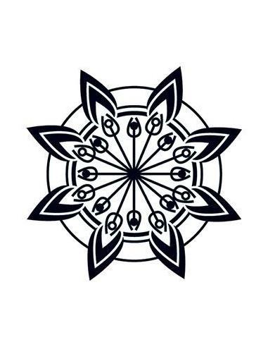 Květina svítící ve tmě - tribal...