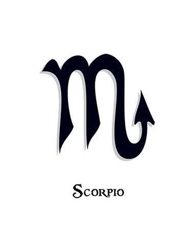 Znamení Štíra - nalepovací tetování