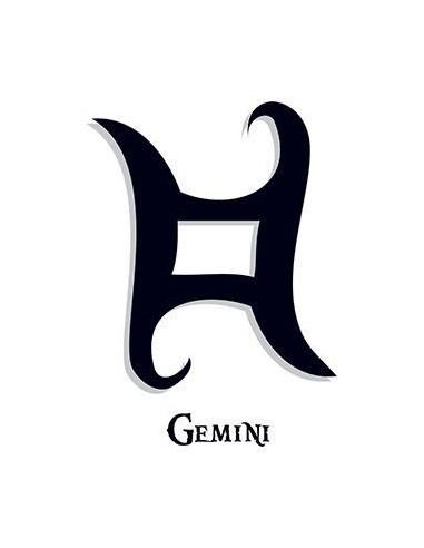 Znamení Blíženců - nalepovací tetování