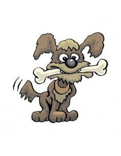 Pes s kostí - nalepovací...
