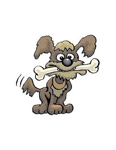 Pes s kostí - nalepovací tetování