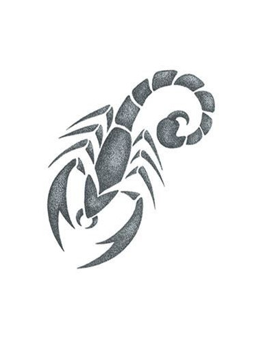 Malý šedý škorpion - nalepovací tetování