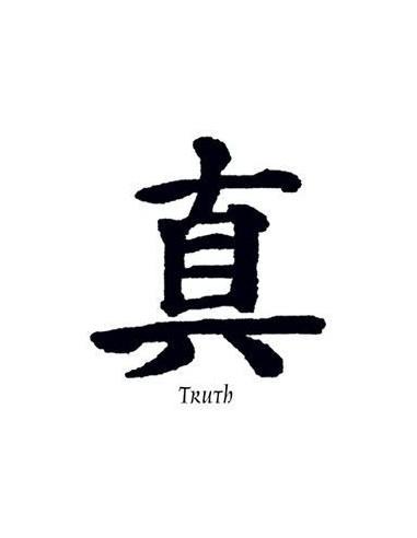 Kanji znak Truth - nalepovací tetování