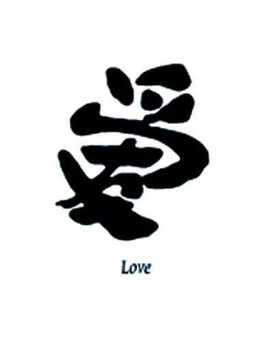 Kanji znak Love - nalepovací tetování