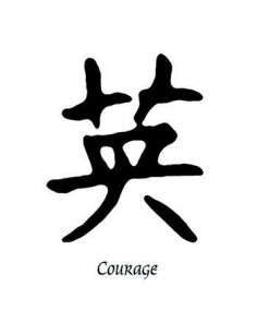 Kanji znak Courage -...